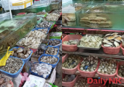 延吉市内の市場で売られている北朝鮮産の海産物(画像:対北朝鮮情報筋12月25日撮影)