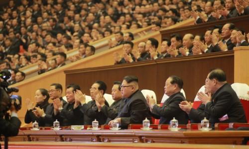 朝鮮労働党細胞委員長大会参加者のための祝賀公演(2017年12月30日付労働新聞より)