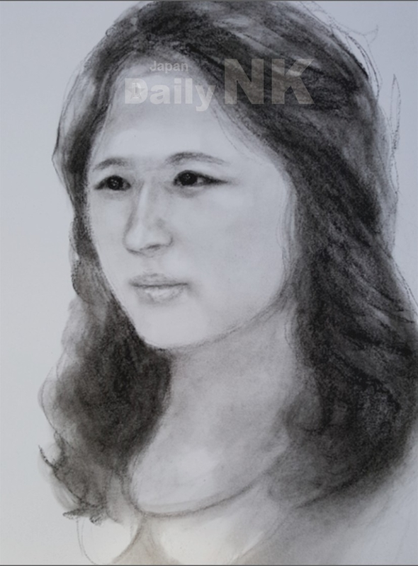 金正恩氏の異母姉・金雪松氏の似顔絵(提供:李潤傑氏)