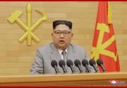 2018年の「新年の辞」を発表する金正恩氏(2018年1月1日付朝鮮中央通信)