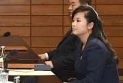 北朝鮮の芸術団派遣を巡る南北実務者会談に出席した北朝鮮の玄松月モランボン楽団団長(韓国統一省提供)