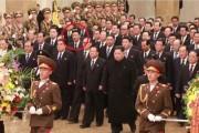 赤い円内が黄炳瑞氏と見られる人物(朝鮮中央テレビ)