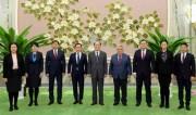 金永南氏を表敬訪問したモンゴル外相一行(2018年2月6日付労働新聞)