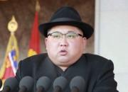 北朝鮮軍創建70周年記念軍事パレードで演説した金正恩氏(2018年2月9日付労働新聞より)