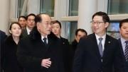 北朝鮮の金永南(キム・ヨンナム)氏と韓国の千海成(チョン・ヘソン)氏