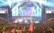 平壌で行われた南北芸術団の合同公演(2018年4月4日付労働新聞)