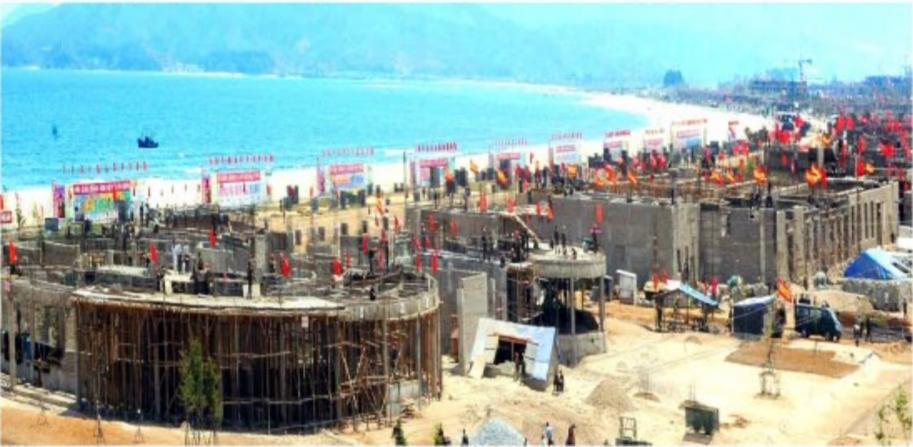 元山葛麻海岸観光地区の建設現場(2018年5月14日付労働新聞)