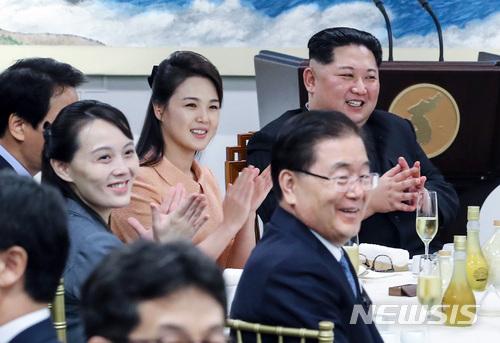 金与正氏と李雪主氏 photo@newsis.com