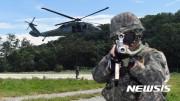 2017年に行われた米韓合同軍事演習「乙支フリーダムガーディアン」の一場面(ニューシス Korea)