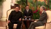 10日に会談した金正恩氏とシンガポールのリー首相(リー首相のフェイスブックより)