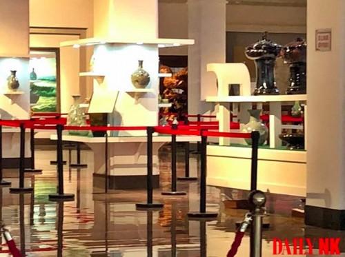 中朝文化展覧館の内部