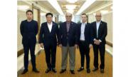 北朝鮮入りしたフィリピンの与党代表団(2018年7月19日付労働新聞)