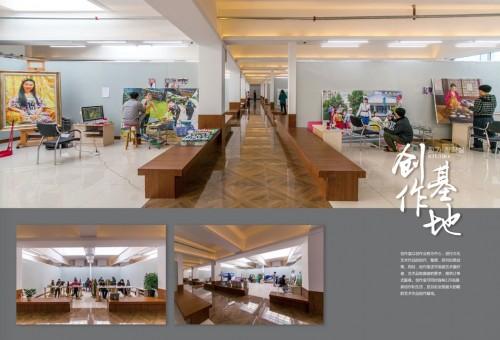 中朝文化展示館の画家創作室(画像:同館提供)