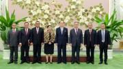 金永南氏とインドネシア大統領特使一行(2018年7月31日付労働新聞)
