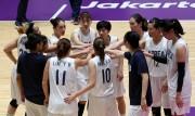ジャカルタで行われたアジア大会で9月1日、中国との決勝戦に臨んだ女子バスケットボールの南北合同チーム(ニューシス Korea)