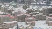 北朝鮮・三池淵郡の再開発現場(朝鮮中央通信)
