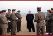 国防科学院の試験場で新開発の先端戦術兵器試験を指導した金正恩氏(2018年11月16日付朝鮮中央通信)