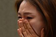 2015年3月3日、韓国・ソウルで行われた記者会見で、北朝鮮で受けた性暴力・人身売買の被害について証言する脱北女性(デイリーNK)