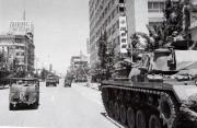 1980年5月の光州事件当時、市内中心部に展開した戒厳軍(5.18記念財団提供)