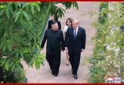 ベトナム・ハノイでの首脳会談2日目に臨んだ金正恩氏とトランプ氏(2019年3月1日付朝鮮中央通信)