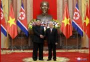金正恩氏とグエン・フー・チョン国家主席(2019年3月2日付朝鮮中央通信)