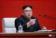 10日の朝鮮労働党中央委員会第7期第4回総会を指導した金正恩氏(2019年4月11日付朝鮮中央通信)