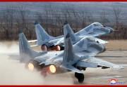 朝鮮人民軍第1017軍部隊のMIG-29戦闘機(2019年4月17日付朝鮮中央通信)