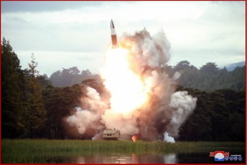 北朝鮮が16日に試射した「新兵器」(2019年8月17日付朝鮮中央通信)