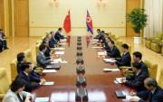2日、平壌で行われた中朝外相会談(2019年9月4日付労働新聞)