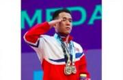 2019IWF世界選手権で金メダルを獲得したオム・ユンチョル選手(2019年9月20日付労働新聞)