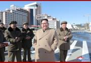 三池淵郡の再開発現場を視察した金正恩氏(2019年10月16日付朝鮮中央通信)