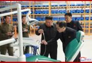 妙香山医療器具工場を現地指導した金正恩氏(2019年10月27日付朝鮮中央通信)
