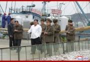 水産事業所を現地指導した金正恩氏(2019年11月19日付け朝鮮中央通信より)