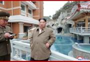 陽徳温泉を現地指導した金正恩氏(2019年11月15日付朝鮮中央通信)