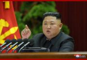 28日、朝鮮労働党中央委員会第7期第5回総会で演説する金正恩氏(2019年12月29日付朝鮮中央通信)