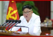 29日、朝鮮労働党中央委員会第7期第5回総会の2日目会議で演説する金正恩氏(2019年12月29日付朝鮮中央通信)