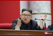 朝鮮労働党中央委員会第7期第5回総会で発言する金正恩氏(2020年1月1日付朝鮮中央通信)
