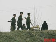 新義州の朝鮮人民軍兵士(デイリーNK)