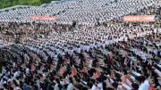 韓国の脱北者団体の対北ビラ散布を非難する青年学生の抗議群衆集会(2020年6月7日付労働新聞)