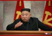 18日、党中央軍事委員会第7期第5回会議を指導する金正恩氏(2020年7月19日付朝鮮中央通信)