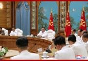 25日に緊急招集された朝鮮労働党中央委員会政治局拡大会議(2020年7月26日付朝鮮中央通信)