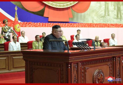第6回全国老兵大会に参加した金正恩氏(2020年7月28日付朝鮮中央通信より)