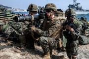 米韓海兵隊の合同演習(韓国国防省提供)