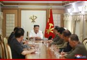 台風9号の復旧対策が話し合われた党政務局拡大会議(2020年9月6日付朝鮮中央通信)