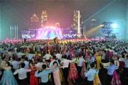 28日、平壌で開かれた青年節のイベント(労働新聞2020年8月29日付)