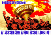 80日間戦闘を訴えるポスター