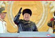 金正恩総書記/労働党第8回大会記念軍事パレード(2021年1月15日付朝鮮中央通信)