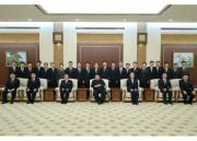 金正恩氏と内閣の新メンバーらの記念写真(2021年1月19日付労働新聞)