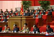 朝鮮労働党第8回大会で演説する金正恩氏(2021年1月6日付朝鮮中央通信より)