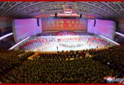 労働党第8回大会祝賀公演「党をうたう」(2021年1月14日付朝鮮中央通信)